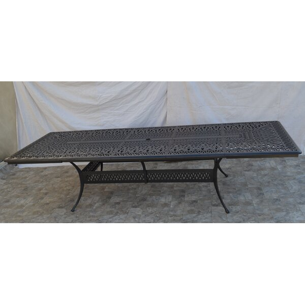 Dietz Extendable Aluminum Dining Table by Alcott Hill