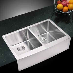 dCOR design Arlon Double Bowl Kitchen Sink
