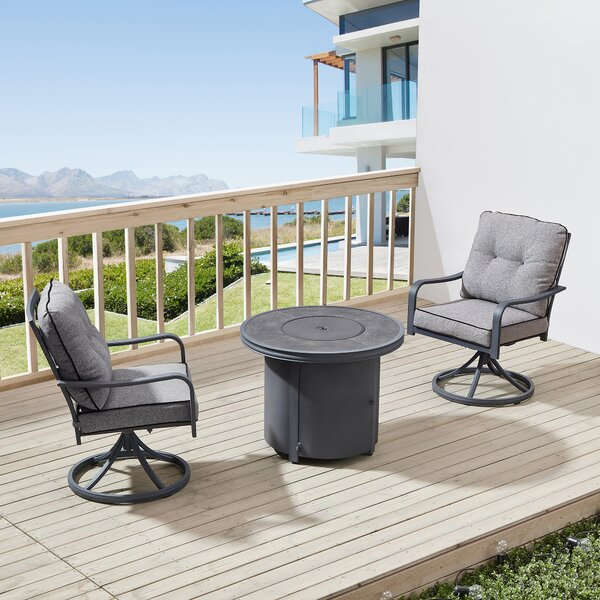 Davenport 3 Piece Seating Group with Cushions
