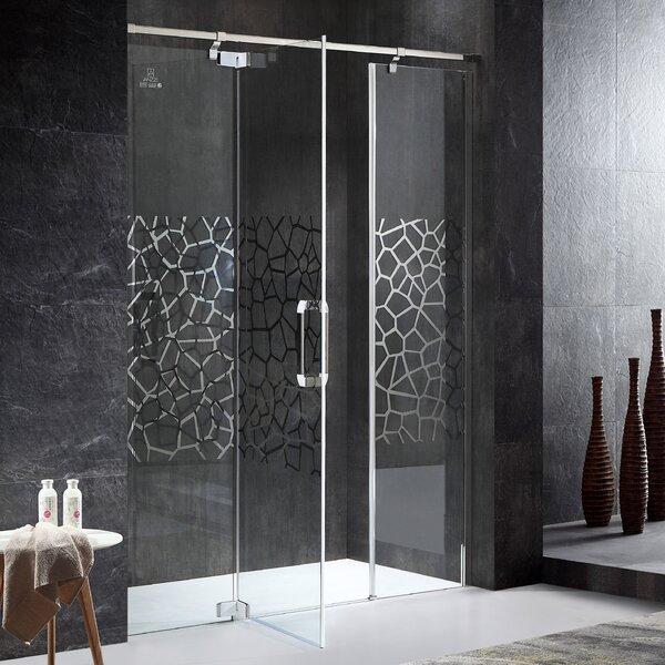 Grove Series Semi-Frameless 63 x 63 x 78.74 Rectangle Hinged Shower Door by ANZZI