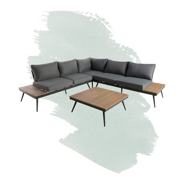 Carina 4 Piece Sectional Seating Group with Cushions by Foundstone