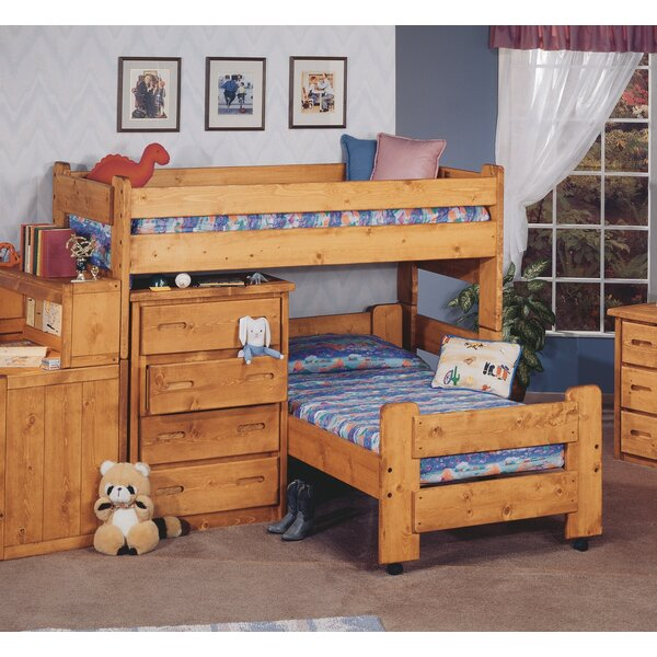 Alderman Twin over Twin L-Shaped Bunk Bed by Harriet Bee