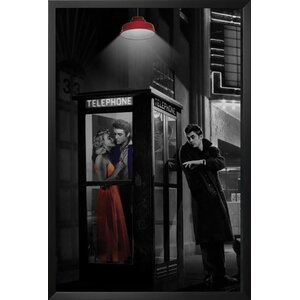 'Midnight Matinee Marilyn Monroe/James Dean and Elvis Presley Hollywood Romantic Movie Theatre Phone Booth' by Chris ... by Red Barrel Studio