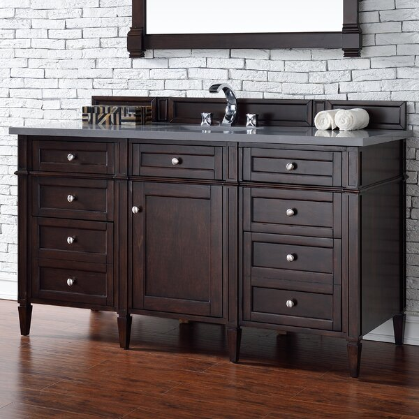 Deleon Traditional 60 Single Burnished Mahogany Wood Base Bathroom Vanity Set by Darby Home Co