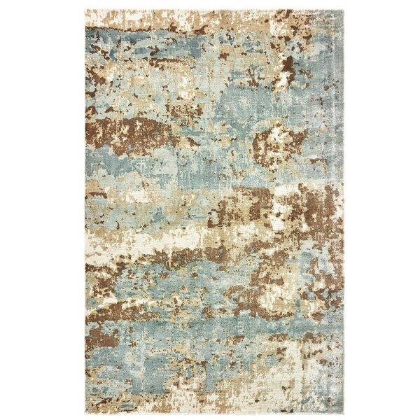 Mcclintock Handmade Blue/Brown Area Rug