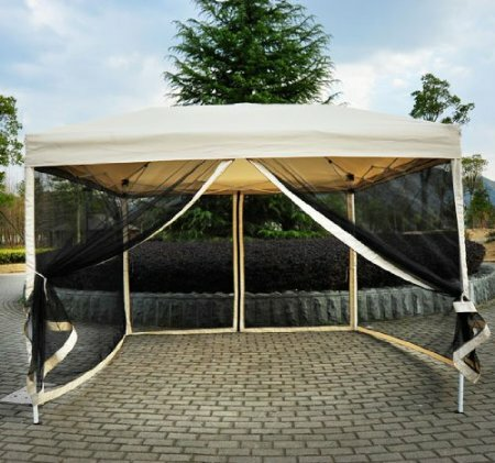 Haddox 10 Ft. W x 10 Ft. D Steel Pop-Up Canopy by Mercury Row
