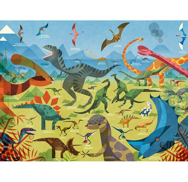 All about Dinosaurs by Daviz Paper Print by Oopsy Daisy