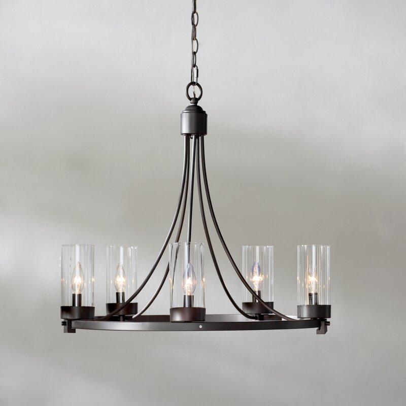 Laurel foundry modern farmhouse agave 5 light candle style agave 5 light candle style chandelier aloadofball Choice Image