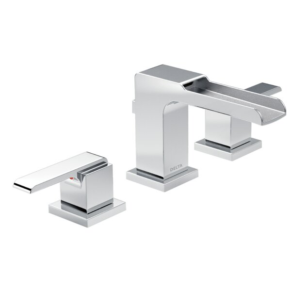 Ara Widespread Bathroom Faucet with Drain Assembly and Diamond™ Seal Technology by Delta