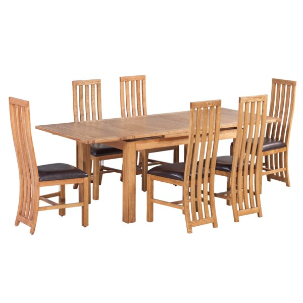 Arreola 7 Piece Extendable Dining Set by Loon Peak