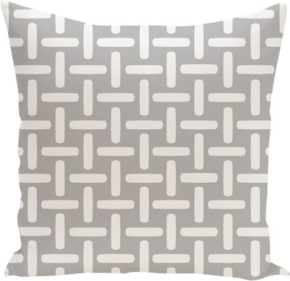 Geometric Down Throw Pillow by e by design