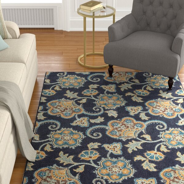 Layman Navy/Tan Area Rug by Alcott Hill