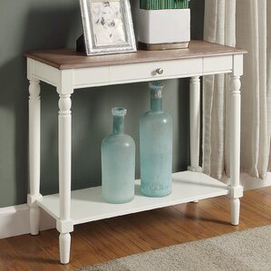 Callery Wood Console Table by Charlton Home