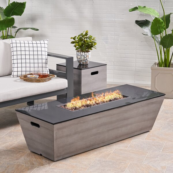 Roderick Outdoor With Tank Holder Concrete Propane Fire Pit By Ebern Designs