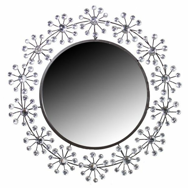 Stone Round Accent Mirror by Entrada