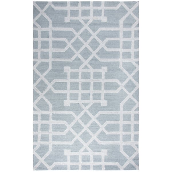 Angela Hand-Tufted Gray/Silver Indoor/Outdoor Area Rug by Mercer41