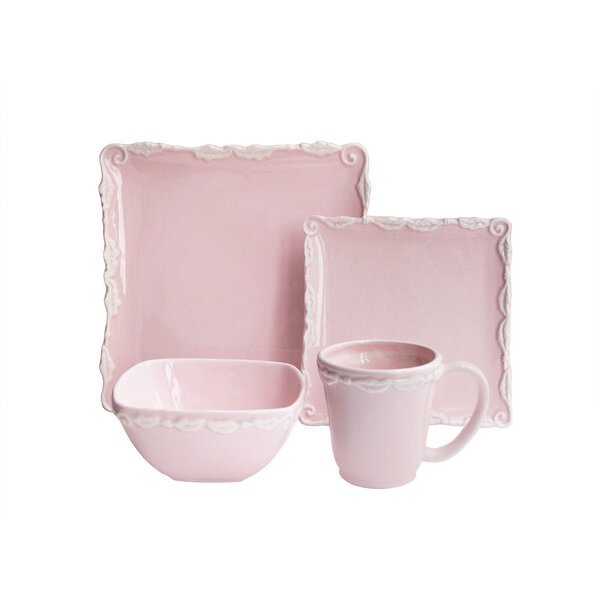 Suanne Wave 16 Piece Dinnerware Set by Ophelia & Co.