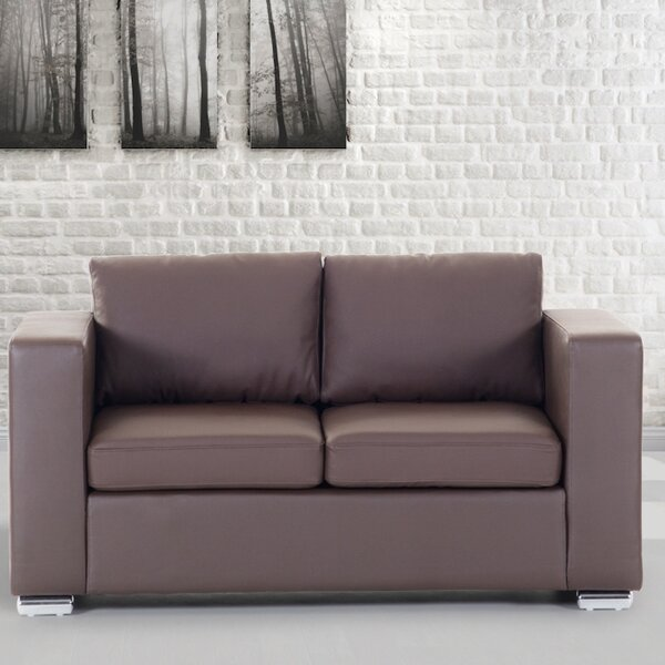 Get Valuable Enya Genuine Leather Loveseat by Orren Ellis by Orren Ellis