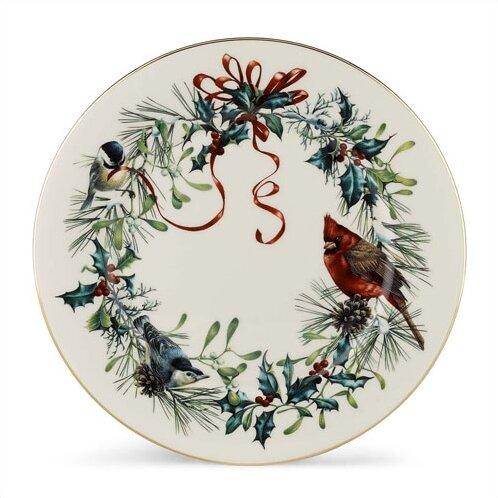 Winter Greetings 10.75 Dinner Plate (Set of 6) by