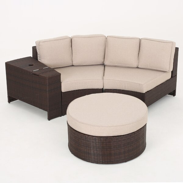 Bermuda 4 Piece Rattan Sectional Seating Group with Cushions by Sol 72 Outdoor