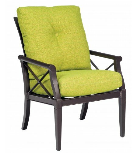 Andover Patio Dining Chair with Cushion by Woodard