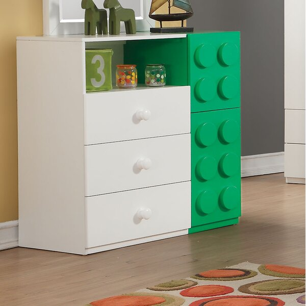 Hymes 3 Drawer Combo Dresser by Zoomie Kids