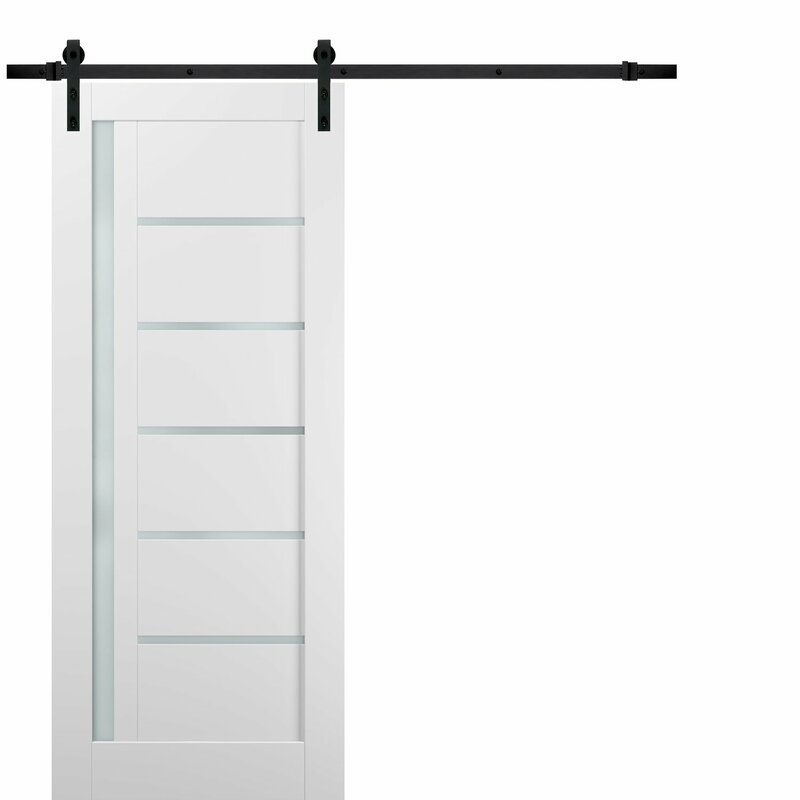 Sartodoors Quadro Glass Barn Door With Installation Hardware Kit Reviews Wayfair