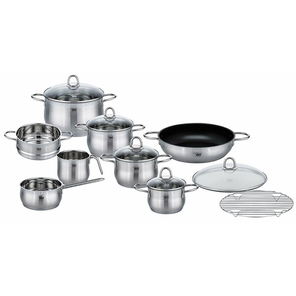 14 Piece Stainless Steel Induction Cookware Set by Westmark