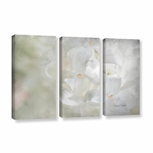 White Lilac II 3 Piece Painting Print on Gallery Wrapped Canvas Set by Alcott Hill