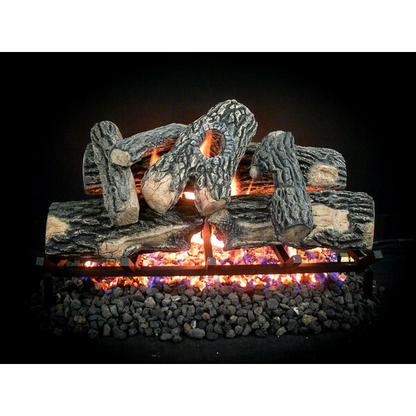 Complete Match Light Majestic Natural Gas Log Kit by Dreffco