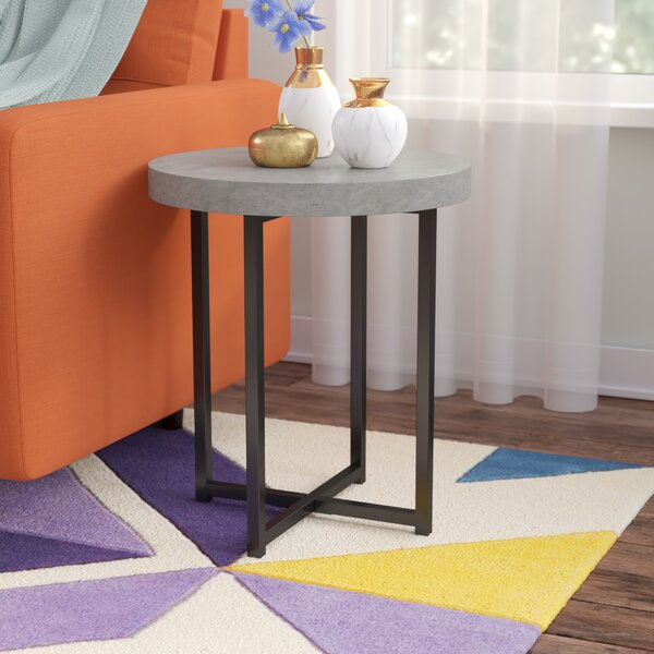 Quan End Table by Wrought Studio
