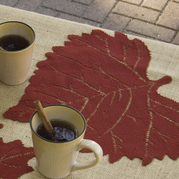 Leaf Placemat Set (Set of 4) by Heritage Lace