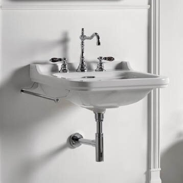 Waldorf Ceramic 40 Wall Mount Bathroom Sink with Overflow by WS Bath Collections