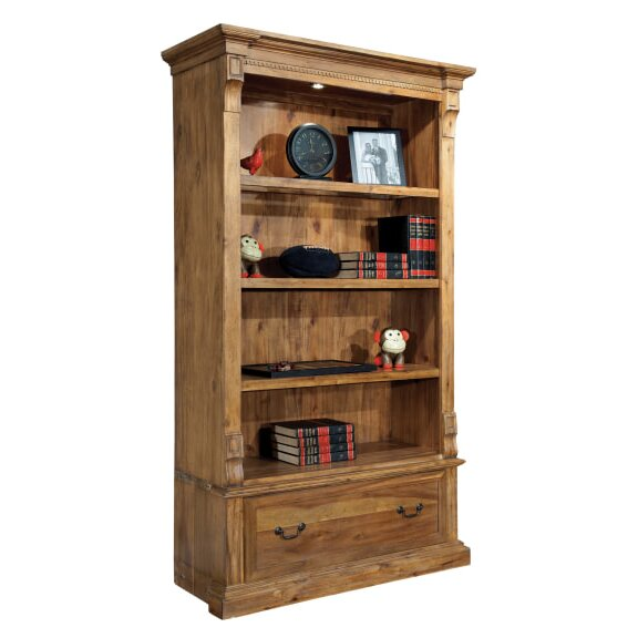 Silver Center Standard Bookcase by Loon Peak