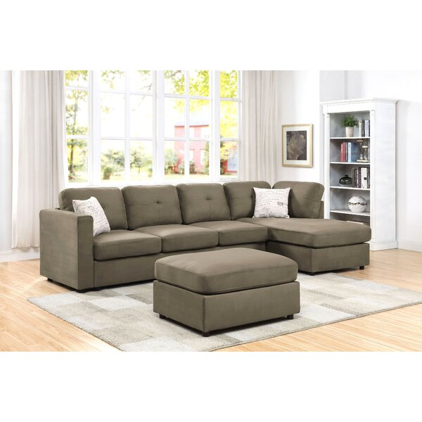 Reversible Modular Sectional With Ottoman By Winston Porter