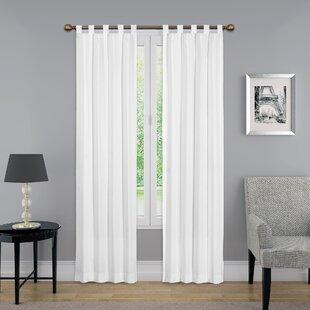 Montana Solid Sheer Tab Top Curtain Panels Set Of 2
