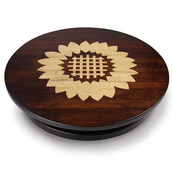 Artisan Woods Sunflower Lazy Susan by Martins Homewares