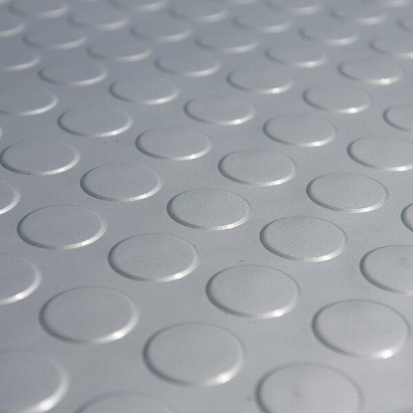 Metallic Coin-Grip Silver 4ft x 7ft Flooring Mat by Rubber-Cal, Inc.