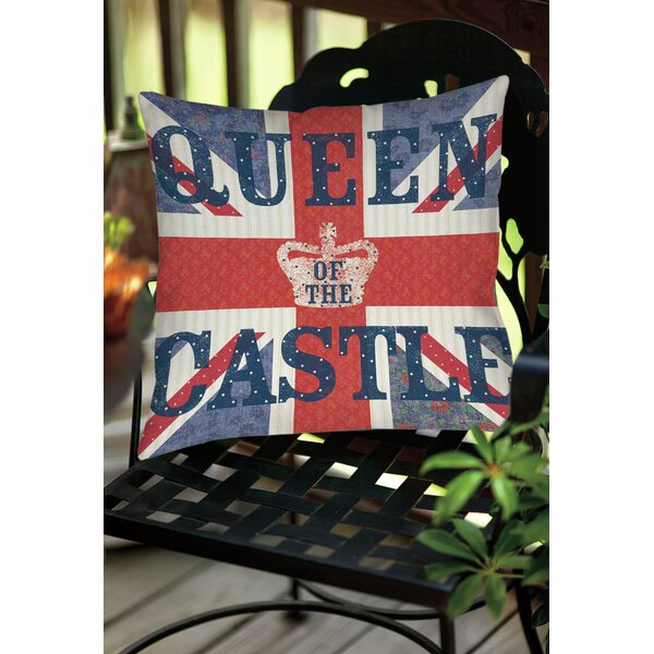 My Queen Castle Square Indoor/Outdoor Throw Pillow by Manual Woodworkers & Weavers