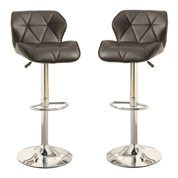 Adjustable Height Swivel Bar Stool (Set of 2) by Infini Furnishings