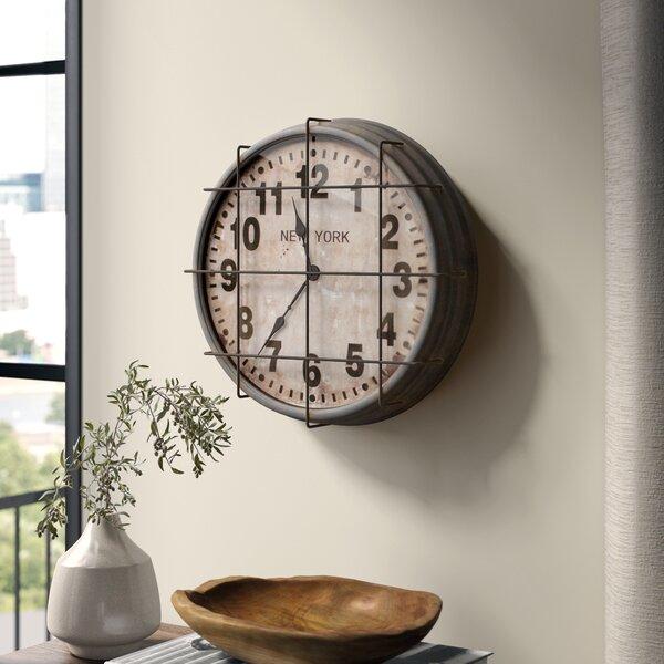 Palmhurst Metal New York Subway 15.5 Analog Wall Clock by Greyleigh