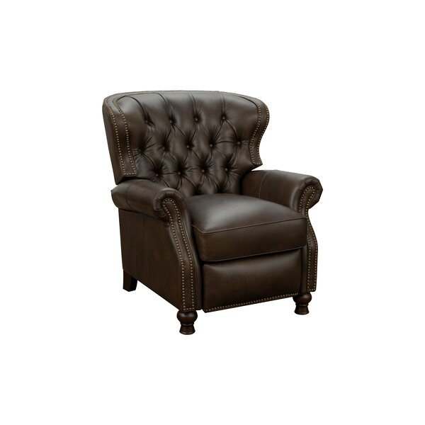 Ove Leather Manual Recliner By Canora Grey