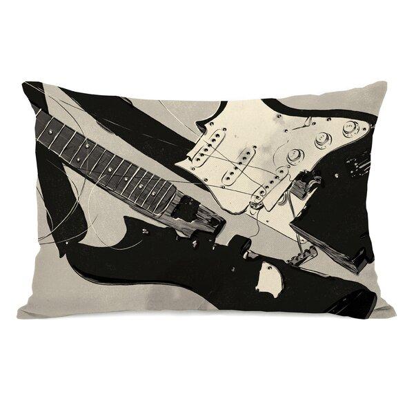 Broken Guitar Lumbar Pillow by One Bella Casa