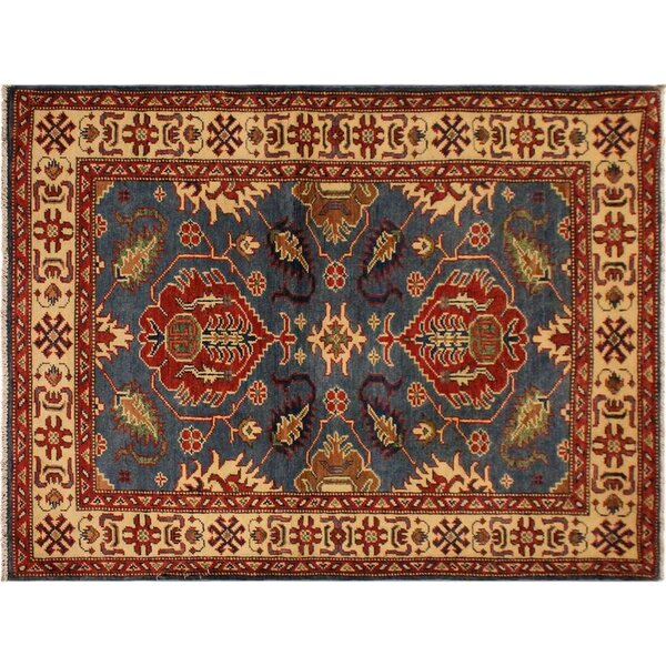 One-of-a-Kind Abingdon Hand-Knotted Blue/Ivory Area Rug by Isabelline