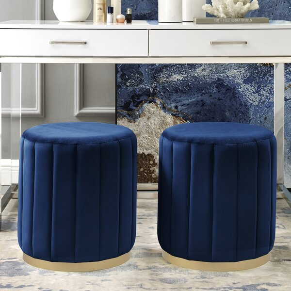 Kase Tufted Ottoman By Nicole Miller