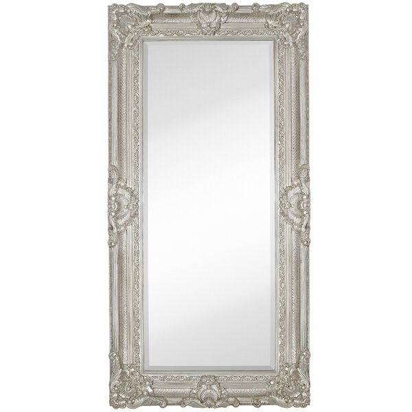 Large Traditional Polished Chrome Rectangular Beveled Glass Framed Wall Mirror by Majestic Mirror
