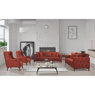Living Room Set Orange by Rosdorf Park