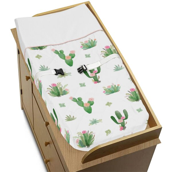 Cactus Floral Changing Pad Cover by Sweet Jojo Designs