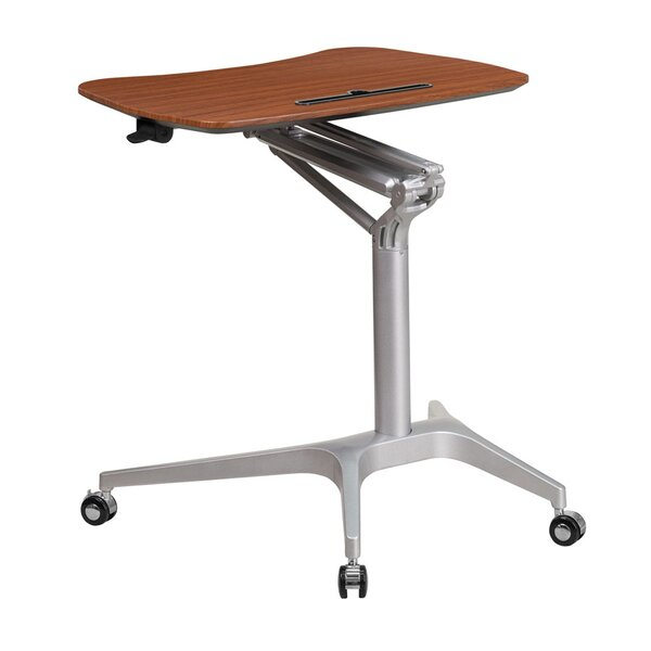 Johnie Mahogany Height Adjustable Standing Desk