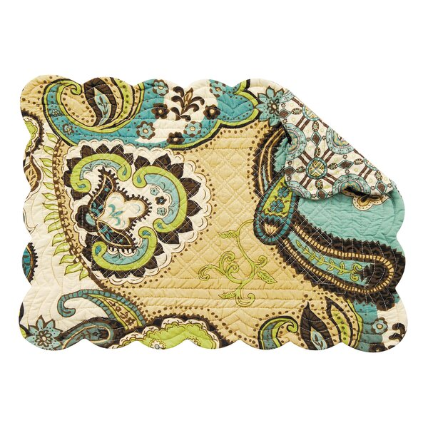 Cornerstone Reversible Quilt Scallop Placemat (Set of 6) by Andover Mills